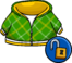 Green Crosshatched Hoodie Club Penguin Rewritten